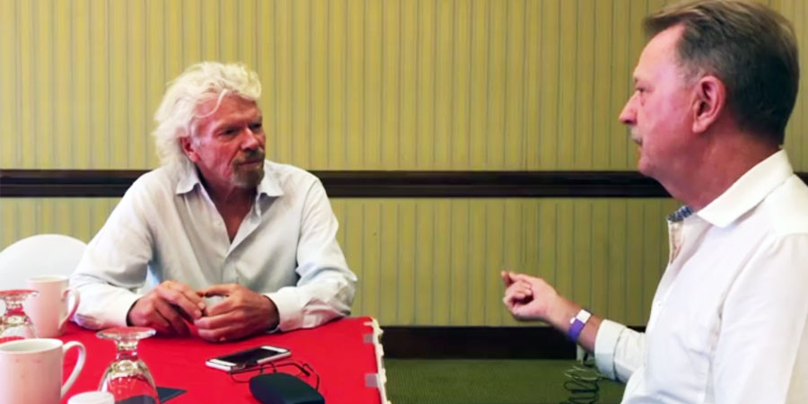 Keith Miller with Sir Richard Branson on 'Developing an enterprise-based culture'