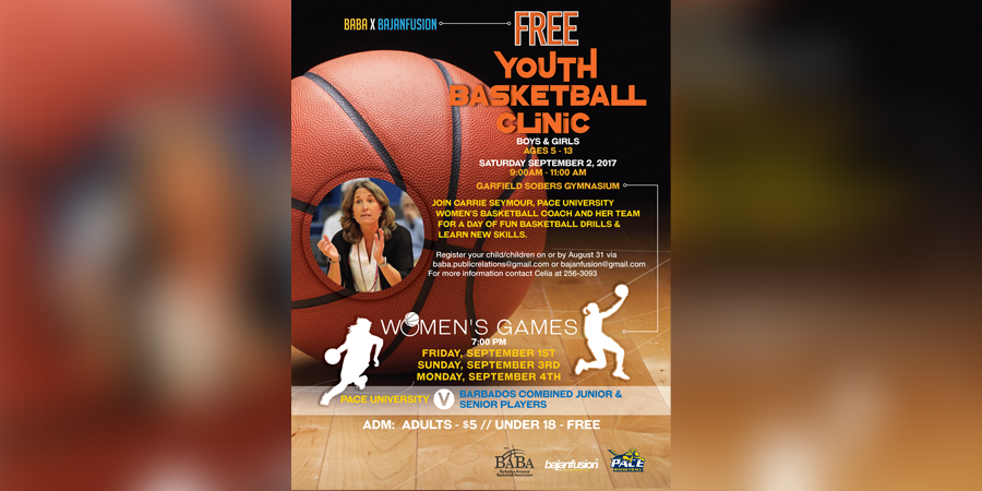 BABA & Bajan Fusion Host PACE UNIVERSITY WOMEN'S BASKETBALL TEAM From New York