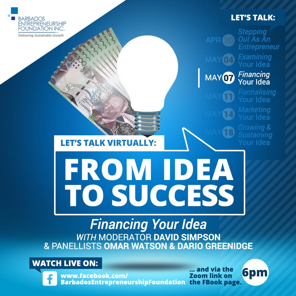 Let's Talk Virtually: From Idea to Success - Financing Your Idea